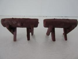 Vintage Doll Furniture Camping Log Sawhorse 1:24 Scale Set of 2 NOS - $2.49