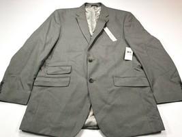 Perry Ellis Portfolio 42R Light Grey Stripe Slim Fit Modern Trimmer Cut ... - $69.99