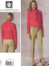 Vogue 1439 Anne Klein Pattern Crop Jacket & Tapered Pants Choose Size Uncut - $14.54