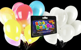Fun Central 5 Pieces - 14 Inches LED Light Up Blinky Balloons, White