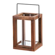 #10015437  *Rustic Garden Brown Wood Candle Lantern* - $23.34