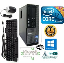 Dell Pc Desktop Intel i7 4770 3.40g 16GB New 1TB Hd Win 10 Pro 64 Dual Dvi Wifi - $453.38
