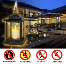 Set of 3 Candle Lanterns Home Garden Patio Yard Stylish Safe Cute LED Decor - $38.85