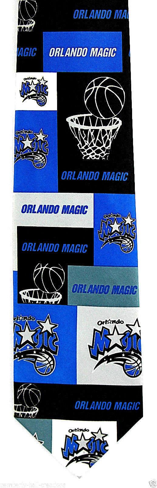 Orlando Magic Men's Necktie NBA Basketball Sports Team Logo Fan Neck Tie