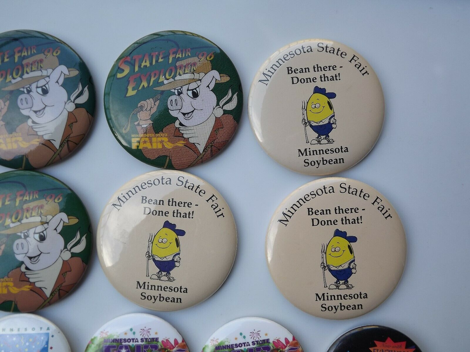 Large Lot of Minnesota State Fair Pinback Buttons Various Years image 5
