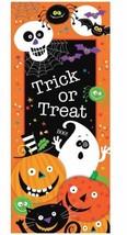Spooky Smiles Plastic Door Poster Trick or Treat Halloween Decoration - $4.35