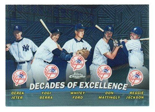 2001 Topps Chrome Derek Jeter Decades of Excellence #TC1 - New York Yankees - Ba