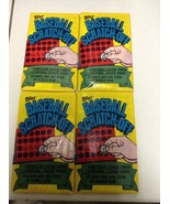 1981 Topps Baseball SCRATCH-OFF Packs 4 UNOPENED Classic with GUM Mint - $11.97