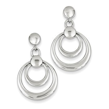 Primary image for Lex & Lu Sterling Silver Double Circle Dangle Post Earrings