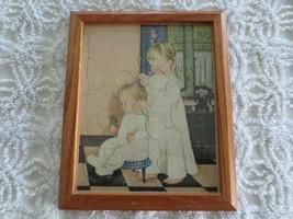 "Framed Eloise Wilkens Babies Golden Press Playskool Puzzle - 9 1/2"" X 11 1/2"" - $11.88"