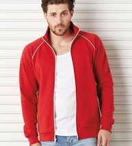 C3710 Bella+Canvas Mens Piped Fleece Jacket 100% Ringsprung Cotton 3710 ... - $34.54+
