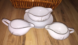 Vintage KAYSONS Gravy Dish Attached Dish and Two Creamers GOLDEN RHAPSOD... - $25.00