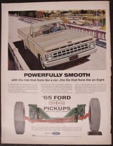1965 FORD Pickup Twin I Beam Truck vintage print ad - $7.95