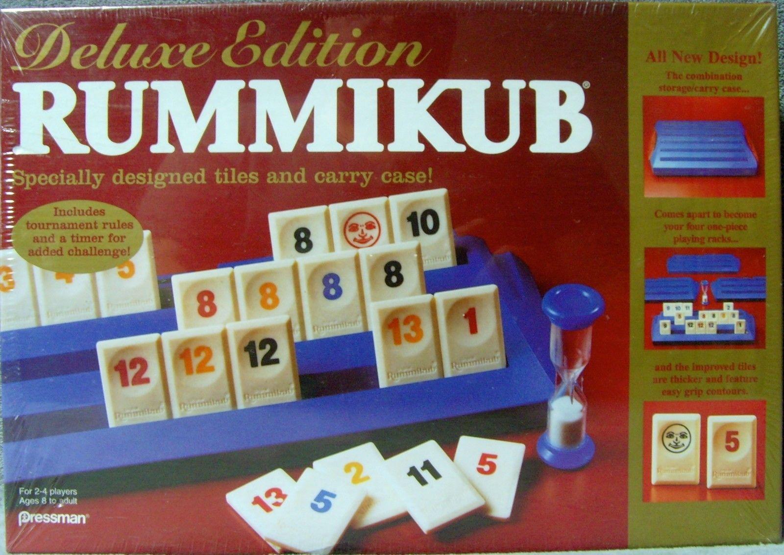 9 1995 Goliath Games :- Original Rummikub Original Tile Blue no