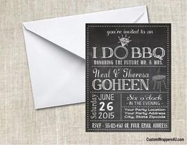 Wedding Bridal Shower I Do BBQ  Chalkboard Invitations Personalized Custom - $0.99+