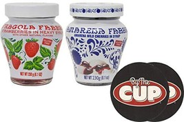 Fabbri Amarena 2 Flavor Variety Pack, 8.1 Ounce of Each Strawberries and Cherrie