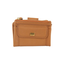 Authentic Fossil Tan Leather Emma Multi Functional Wallet Coin Purse - $42.57