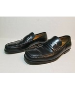 COACH Men's Leather Loafers Black Vera Gomma Size 9/Euro 42 Made in Italy - $39.99