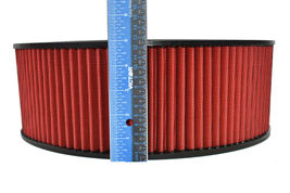 """HIGH FLOW WASHABLE & REUSABLE ROUND AIR FILTER ELEMENT REPLACEMENT 14"""" X 5"""" RED image 3"""