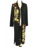 Long Knit Duster Jacket Size S 4, 6 Asian Boho - $32.99