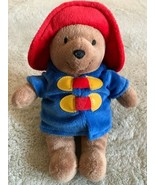 My First Paddington Brown Bear Red Hat Blue Coat Small Plush Stuffed Ani... - $12.13