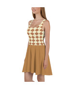 Diamond pattern Skater Dress (brown) - $40.00+