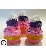 Dezicakes Fake Cupcakes Pink Lavender Unicorn Cupcakes SET of 3 Fake Cak... - €11,27 EUR