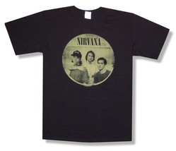 Nirvana-Nevermind-Band Circle-Large Black  T-shirt - $18.37