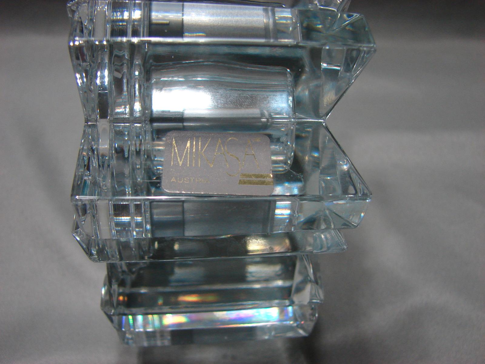 Mikasa Austria StarFire Crystal Clear Glass Star Quartz Round Clock Germany Made image 5