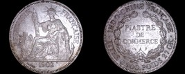 1902-A French Indo-China 1 Piastre World Silver Coin - Vietnam - $99.99