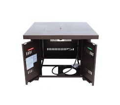 Bronze Patio Table Fire Pit Propane Patio Heater Outdoor Heating Center Table image 4