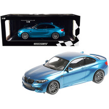 2019 BMW M2 Competition Light Blue Metallic Limited Edition to 504 piece... - $171.37