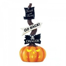 Danger! Halloween Decor Jack O Lantern Carved Pumpkin LED Lighted Sign S... - £26.12 GBP