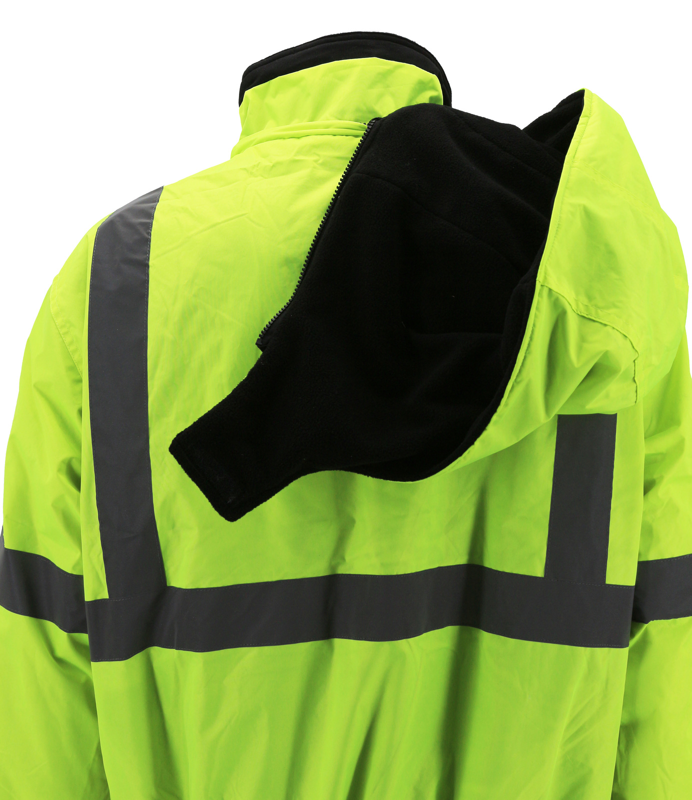 Men's Class 3 Safety High Visibility Water Resistant Reflective Neon Work Jacket image 5