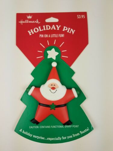Primary image for Hallmark Christmas Holiday Pin Star Santa Tree Red Green White