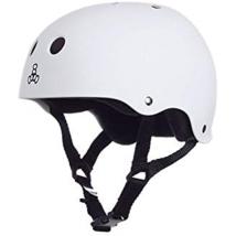 NEW Triple 8 WHITE Rubber Helmet Brainsaver,Sweatsaver XL/BIKE,SKATE,SKI... - $25.95