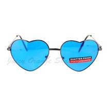 Cute Heart Shape Sunglasses Thin Metal Frame All Colors - $7.95