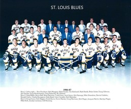 1986-87 ST. LOUIS BLUES TEAM 8X10 PHOTO HOCKEY PICTURE NHL - $3.95
