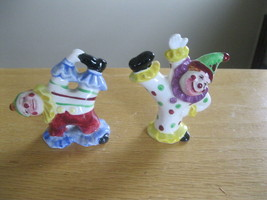 VINTAGE Japan Clowns Dots and stripes salt and ... - $5.00