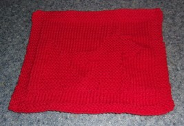 Brand New Hand Knit Scottish Terrier Design Cotton Dish Cloth Dog Rescue... - $11.49