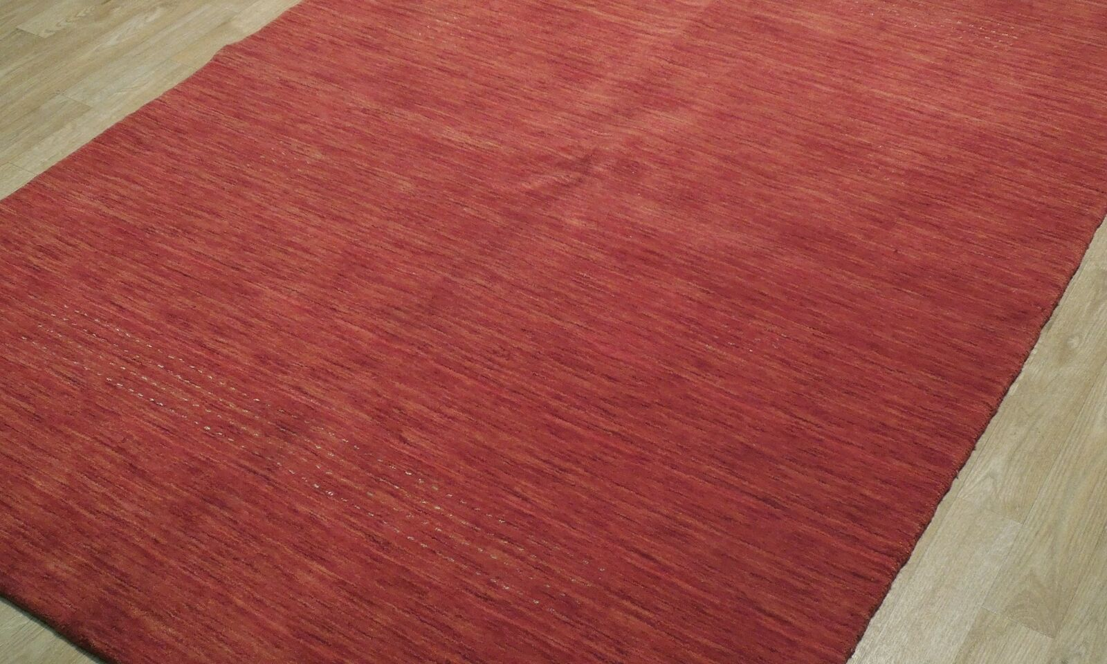 5' x 7' Shades of Red Soft Modern Red Gabbeh Wool Hand-Knotted Rug image 10