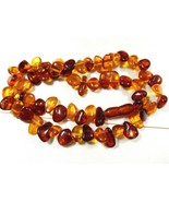 "Baltic Russian natural genuine clear polished Honey Amber 17.5"" strand n... - $143.55"