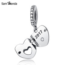 Buy New Authentic 925 Sterling Silver Charm Bead Club Charm 2017 Heart Dangle - $17.99