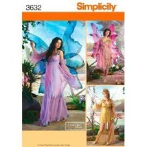 Simplicity 3632 Women 6 to 12 Fairy Butterfly Costume Patter - $9.95