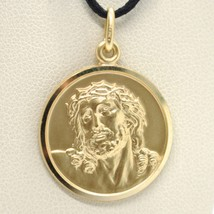 SOLID 18K YELLOW GOLD ECCE HOMO, JESUS CHRIST FACE MEDAL, DETAILED MADE ... - $485.00+