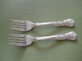 Towle Hotel Shell motif set of 2  stainless salad forks - $12.82