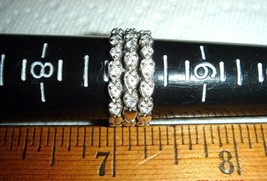 VTG 14K W.G. DIAMONIQUE HEART ANNIVERSARY WEDDING BRIDE GAURD STACK RING... - $467.99
