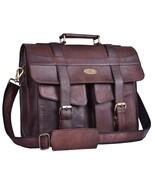 Handmade_World Men Goat Leather Briefcase Messenger Bag Shoulder Crossbo... - $60.00