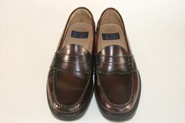 4ae76622634 Nunn Bush Lincoln Mens Burgundy Leather Penny Loafer Shoes 85538-05 Sz 9 M -