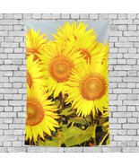 Tapestry Wall Golden Sunflower Filed Pattern Light Tapestry 40x60 Inch - $26.00